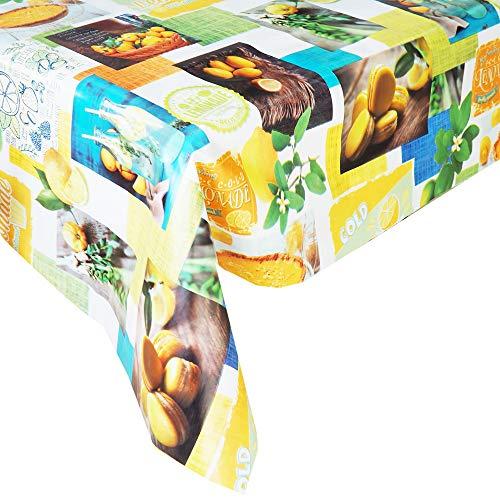 Mantel Hule Limonada · Mantel Antimanchas Resistente y Lavable · Mantel Mesa Rectangular en PVC · Hules para Mesas · Múltiples Diseños y Económicos · Medidas ( 220/240 cm x 140 cm )
