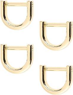 Artibetter Anillas en D con grillete de herradura en forma de U, anillo en D, para manualidades, cuero, llavero para corre...
