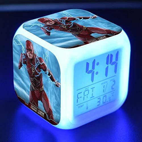 JXAA Reloj Despertador para niños, luz LED, 7 Colores cambiantes, Reloj Despertador Digital, Reloj de Juguete para niños, Reloj Despertador, Reloj Despertador, Reloj Despertador