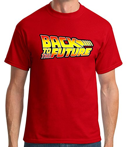 35mm - Camiseta Hombre - Back To The Future - Regreso Al Futuro Logo, ROJO, L