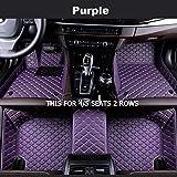 YUNJINGCHENMAN Custom Car Tapetes for Mercedes Benz Todos los Modelos E C GLA GLE GL CLA ML GLK CLS S a R a B CLK SLK G GLS GLC Vito Viano (Color Name : Purple-4/5Seat)
