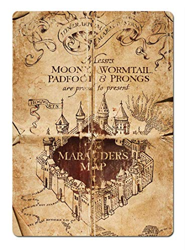 YASMINE HANCOCK Marauders Map Decorazione murale di Metallo Segno Arte Poster