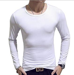 [pcb] メンズ Tシャツ uネック トップス 長袖 無地 丸首 速乾 おしゃれ 人気 薄手 カットソー インナー ティーシャツ ロンティー ロンT