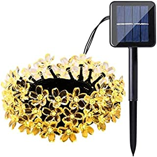 Cherry Blossom Solar String Lights, 7M 50 LED Waterproof Outdoor Decoration Lighting for Indoor/Outdoor, Patio, Lawn, Gard...