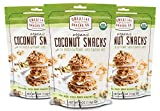 Creative Snacks Naturally Wholesome and Delicious Organic Coconut Snacks with Chia, Sunflower and Pumpkin Seeds,3 Pack of Handy 4 Ounce Resealable Bags