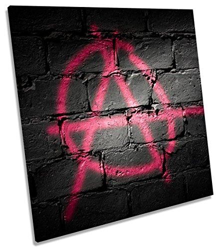 Canvas Geeks Leinwandbild, Motiv Anarchie, Graffiti, quadratisch, 90cm Wide x 90cm high