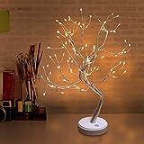 ruixin 108 LED 19. 7-Zoll-Blumenbaum Licht Desktop DIY Bonsai Baum Lampe für Zuhause Schlafzimmer Innen Hochzeitsfeier Dekoration Touch-Schalter Einstellbare Zweige Batteriebetrieben