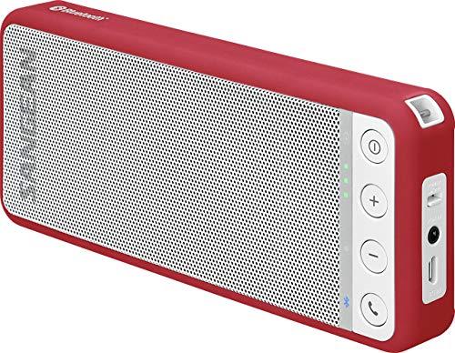 Sangean BLUTAB BTS-101 tragbarer Bluetooth-Lautsprecher (Bluetooth 4.0, NFC, Freisprechfunktion, AUX-IN) rot