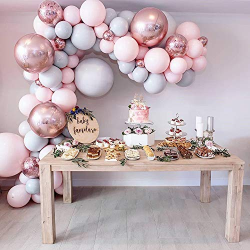 EAHUHO Stück Luftballons, Konfetti Ballons Matellic Latex Ballons Helium Ballons für Geburtstag, Hochzeit, Deko Taufe Mädchen, Partys Dekorationen