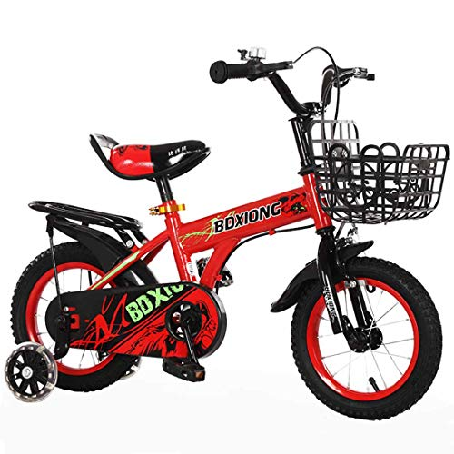 MUYU 12 (14,16,18,20) Inch Kids Bike voor 3-12 Jaar Oude Meisjes Kids Fiets met Front Basket & Training Wielen
