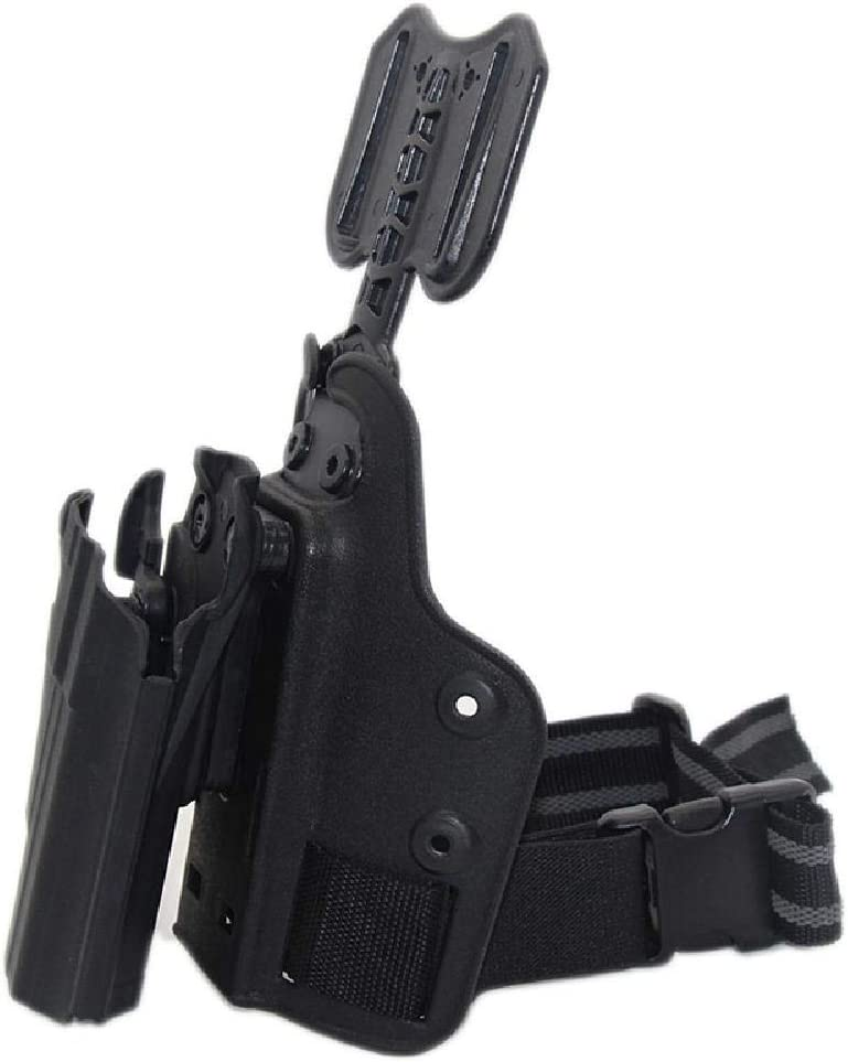 BGJ Pistolera t/áctica de Pierna ca/ída para Safar Glock 17 19 22 Beretta M92 CZ75 Taurus PT840 HK USP Pistolera Pistola Airsoft Platform