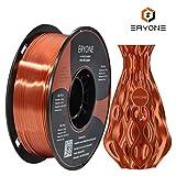 Filamento PLA Cobre Ultra Seda 1.75 mm, ERYONE Impresión 3D PLA Super Filamento para Impresora 3D y Bolígrafo 3D, 1 kg 1 Carrete