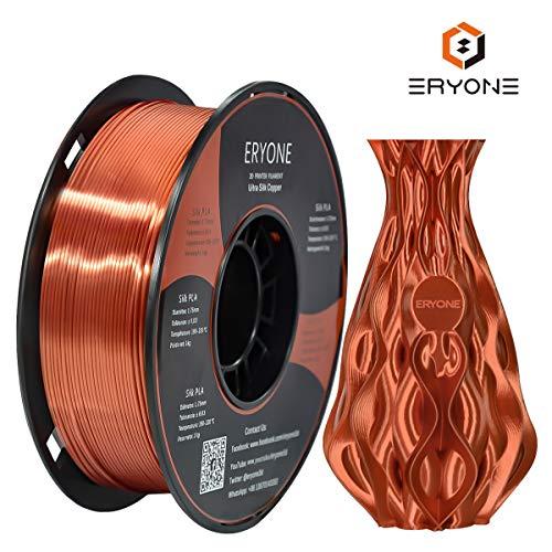 Filamento PLA Cobre Ultra Seda 1.75 mm, ERYONE Impresión 3D
