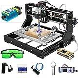 VEVOR 500mw-15W Cnc 3018 Pro Cnc 3018 Máquina CNC Grabador Láser Máquina de Grabado Láser para Cuero de Madera de Plástico (3018Pro 2.5w)