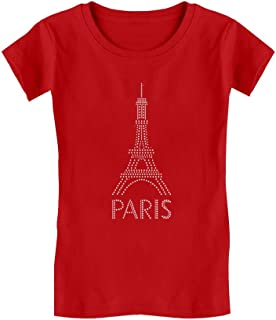 Eiffel Tower Paris Bastille Day French Patriot Gift Girls' Fitted Kids T-Shirt