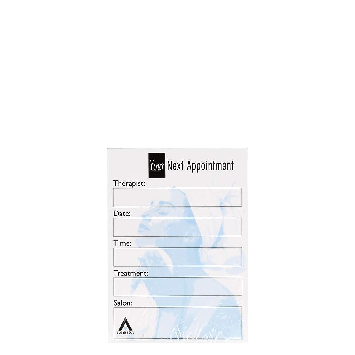 うめきジョージバーナードアカデミックアジェンダ サロンコンセプト ネイルアポイントメントカードAP7B x100[海外直送品] [並行輸入品]