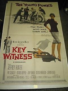 KEY WITNESS/ORIG. U.S. ONE SHEET MOVIE POSTER (PHIL KARLSON/DENNIS HOPPER