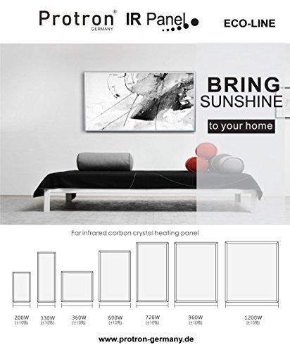 Protron Motiv Infrarotheizung Infrarot Panel Heizkörper Bild Elektroheizung Wandheizung kaufen  Bild 1*