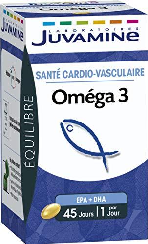 Juvamine - OMEGA 3, Santé Cardio-Vasculaire - 45 Capsules