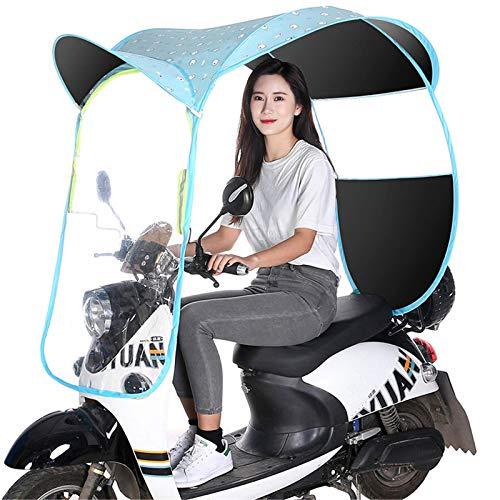 Fundas para motos Cubierta de parasol de motocicleta eléctrica universal, cubierta impermeable de lluvia para scooter, cubierta de toldo de coche con batería, cubierta de sol, lluvia y viento, A