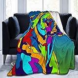 Zuyau Manta cómoda y Duradera, Perro Rhodesian Ridgeback Multicolor Personalizado para Cama, sofá, Silla, Sala de Estar, Todas Las Estaciones, 80 x 60, Multicolor_Rhodesian_Ridgeback_Dog_60'x50