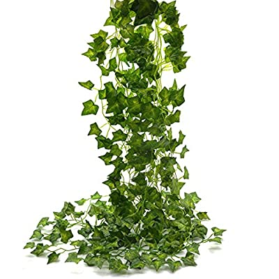 Artificial Vines Ivy Leaf Plants Vine Hanging Garland Fake Foliage Flowers for Party Outdoor Greenery Wedding Wall Decorations Supplies