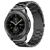 Simpeak Cinturino Compatibile per Samsung Galaxy Watch 42mm/Galaxy Watch 3 41mm/ Active 2 40mm 44mm Banda in Acciaio Inossidabile con Chiusura Pieghevole Compatibile con Galaxy 42,5.5'-8.5', Ne