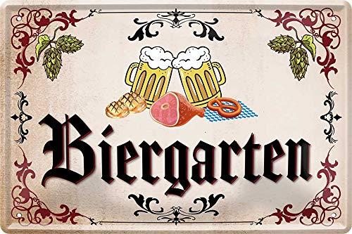 Biergarten Bier Beer 20 x 30 cm Haus Bar Party Keller Deko Blechschild 157