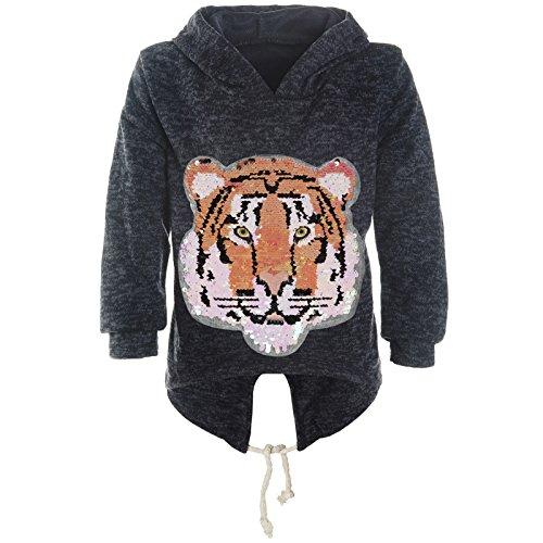 BEZLIT BEZLIT Mädchen Kapuzen Pullover Pulli Wende-Pailletten Sweatshirt Hoodie 21484 Blau Größe 128