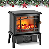 Air Choice Upgrade Electric Fireplace Heater, 9.9' Portable Stove...