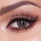 Bella -'Elite Series' Lentes de contacto de color naturales durante 3 meses sin corrección Lentillas mensuales de (100% naturales y suaves) (Amber Gris (Gris))