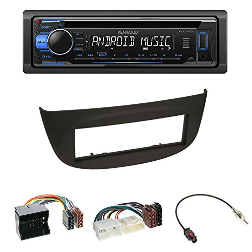 Mitsubishi Mirage Einbauset: Autoradio Doppel-DIN 2-DIN Radioblende Radio Blende Halterung schwarz +ISO Radioanschlusskabel Adapter +Antennenadapter f/ür Mitsubishi Space Star 02//2013-12//2014 A00