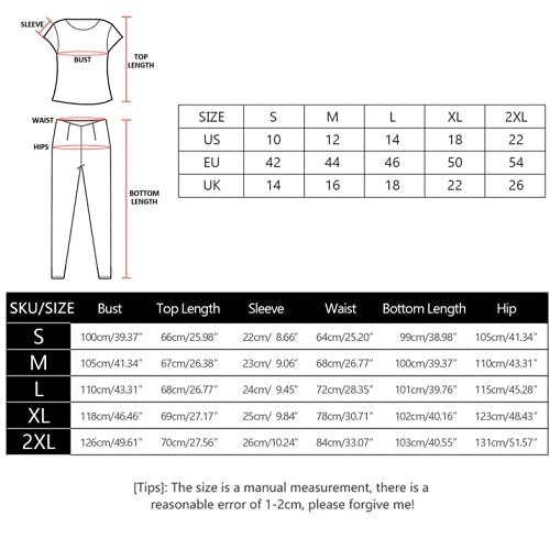 Litthing Conjunto Chándal de Mujer Chandal Completo 2 Piezas Deporta Ropa de Manga Corta y Pantalones Mujer Casual para Yoga Set Suave y Cómodo (Negro, XL)