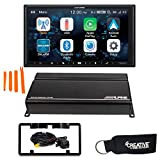 Alpine iLX-W650 Compatible with CarPlay & Android Auto - Includes KTA-450 4-Channel Amplifier, Back up Camera