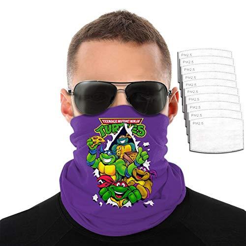 VOROY T-M-N-T Diadema con 6 filtros para protección facial a prueba de sol, color morado para adultos 24 x 45 cm