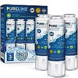 Pureline UKF8001 Water Filter Replacement for Whirlpool Filter 4, EDR4RXD1, 4396395, EveryDrop Filter 4, Maytag UKF8001, UKF8001P, UKF8001AXX, UKF8001AXX-750, WRX735SDHZ00, FMM-2, (Pack of 3)