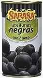 Sarasa Aceitunas Negras Cacereñas con Hueso - Paquete de 12 x 350 gr - Total: 4200 gr