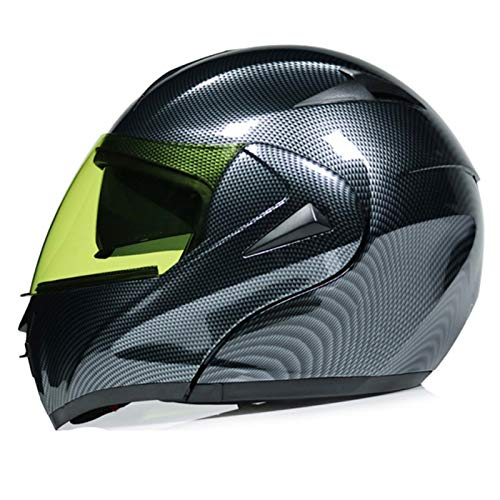 Casco de Motocicleta Abatible Modular,DOT ECE Certificado Casco Flip de Motocicleta de Cara Completa con Doble Parasol Guantes y Parabrisas Antideslizantes para Hombres y Mujeres G,S