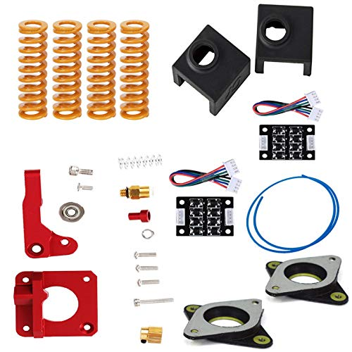 LICHIFIT 12pcs/pack Springs Extruder Sock Tube Stepper Dampers Smoother kit Fit for Creality Ender 3 3D Printer