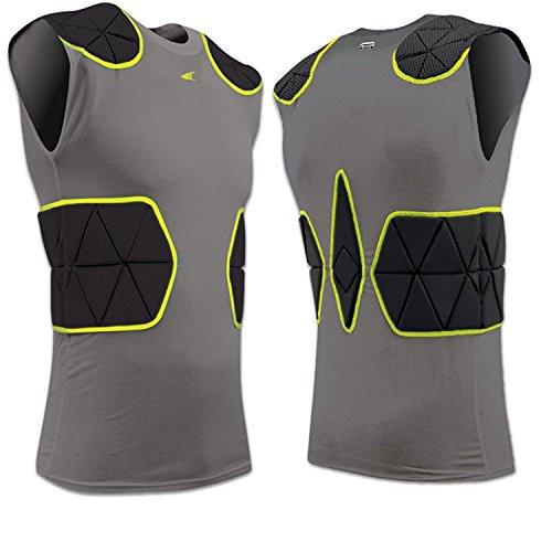 CHAMPRO FJU6 TRI-Flex Compression Armour Shirt Padded CH Charcoal Adult Large