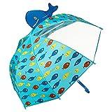 VON LILIENFELD® Paraguas Motivos Infantil Peces Decoración Niños Niñas hasta 8 años