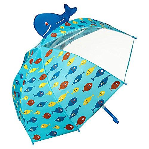 VON LILIENFELD® Paraguas Motivos Infantil Peces Decoración