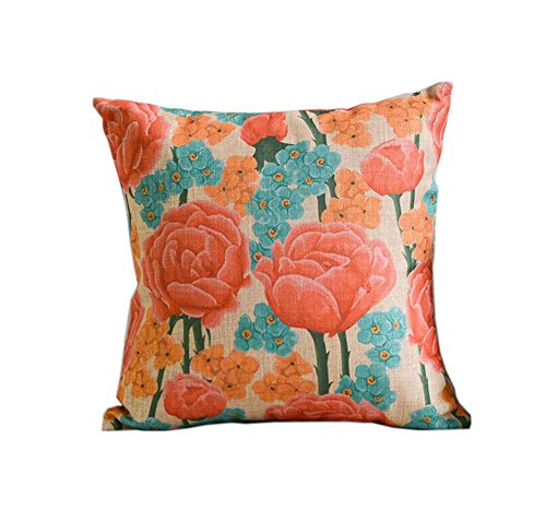 belle rétro motif rose ameublement de maison oreiller / coussin