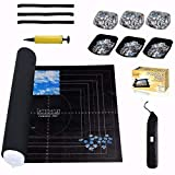 Jigsaw Puzzle Mat Roll Up for 1500, 1000, 500 Pieces with 6 Pcs Sorter Trays, Puzzle Keeper Cover Saver Storage, Table Board for Adults Kids Men Women Large Portable Puzzle Holder Organizer Pad