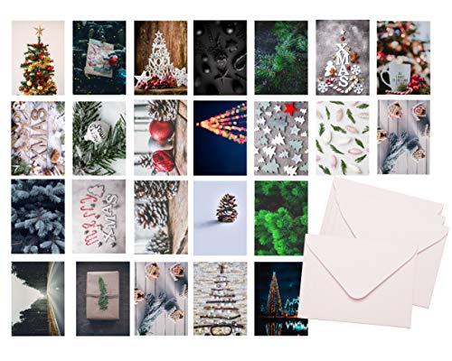 48x Weihnachten Geschenkkarten mit Briefumschlägen Umschlag - Grußkarten - Karten - Postkarten - Weihnachtskarten moderne Designs mit Umschlägen (48x)