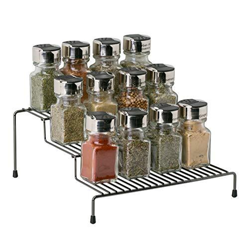 Kitchen Details Freistehendes Gewürzregal mit 3 Etagen, Regal, Theke, Speisekammer, Küchenschrank, Onyx