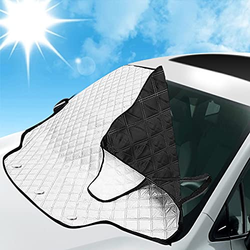 MATCC Windshield Sun Shade Car Windshield Snow Cover Frost Guard Windshield Ice Cover for Ice and...