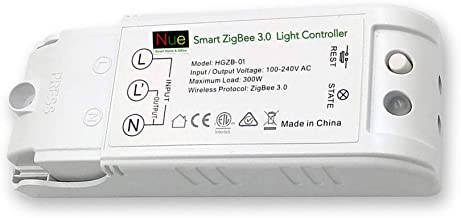 AU/NZ Approved Smart ZigBee 3.0 in-ceiling light controller for upgrading normal lights and switches to Wireless Home Automation Google Home Amazon Echo Dot Echo Plus Alexa Voice Lighting Control, Compatible with Nue ZigBee Bridge and SmartThings Hub