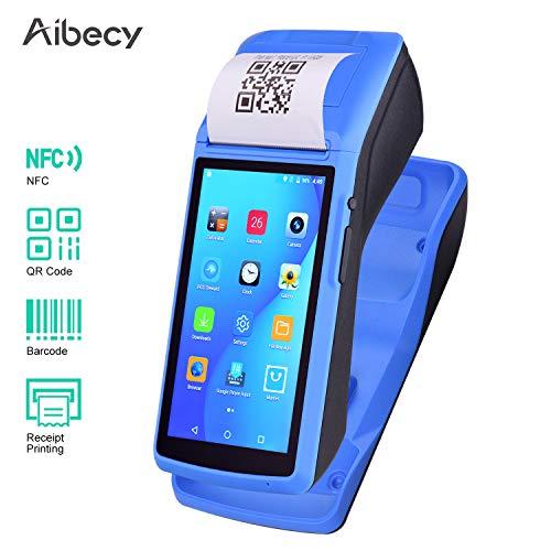 Fesjoy Stampante palmare palmare All in One Terminale di pagamento POS wireless Android Stampante per ricevute con touchscreen da 5 pollici Supporto per dock di ricarica GPS BT/WiFi/USB OTG / 3G