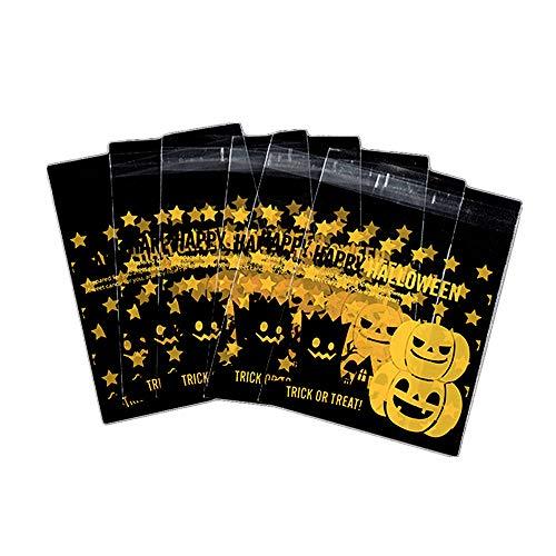 Cosanter 100 X Mignon Toussaint Pochette De Bonbons Citrouille Sacs de Cuisson Sac d'Emballage pour Stocker Les Bonbons Pains Chocolats et Gelées